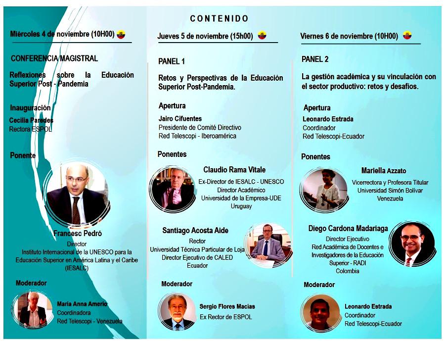 post-pandemia-Seminario-Espol-Telescopi-Ecuador-Telescopivzla-FunindesUSB